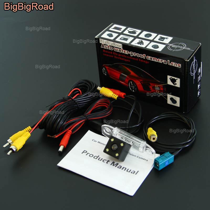 BigBigRoad caméra de recul de voie intelligente de voiture pour Volvo S80 S80L XC60 XC90 V70 XC70 caméra de recul de vision nocturne