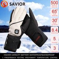 Savior battery heated glove winter fishing outdoor sports heating gloves 3 levels wind&waterproof 65c hand warmer SHGS16B DHL