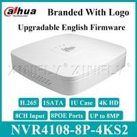 Dahua original NVR4108-8P-4KS2 8ch 스마트 1u 8poe 4 k & h.265 lite 로고가있는 NVR4104-P-4KS2 NVR4108-P-4KS2 교체