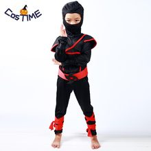 Kids Stealth Ninja Costume Cool Boys Masked Ninja Assassin Costume Warrior Children Fancy Dress Carnival Costumes for Kids S-XL(China)
