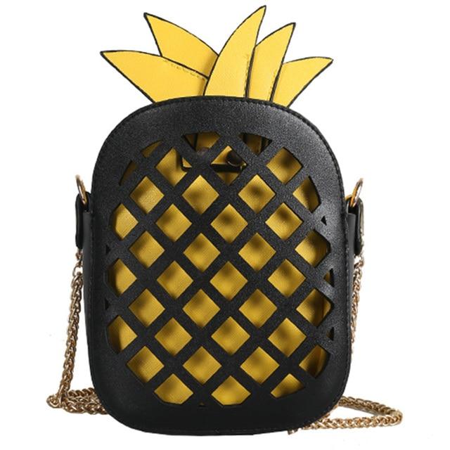 funny bags pineapple shape shoulder bags for girls designer Hollow beach bag designer chain messenger bag fashion cute phone sac
