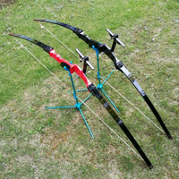 53 30lbs 40lbs Takedown Straight Bow Longbow Recurve Bow Outdoor Hunting Bow Gym Archery Target Shooting Practice Game Bow