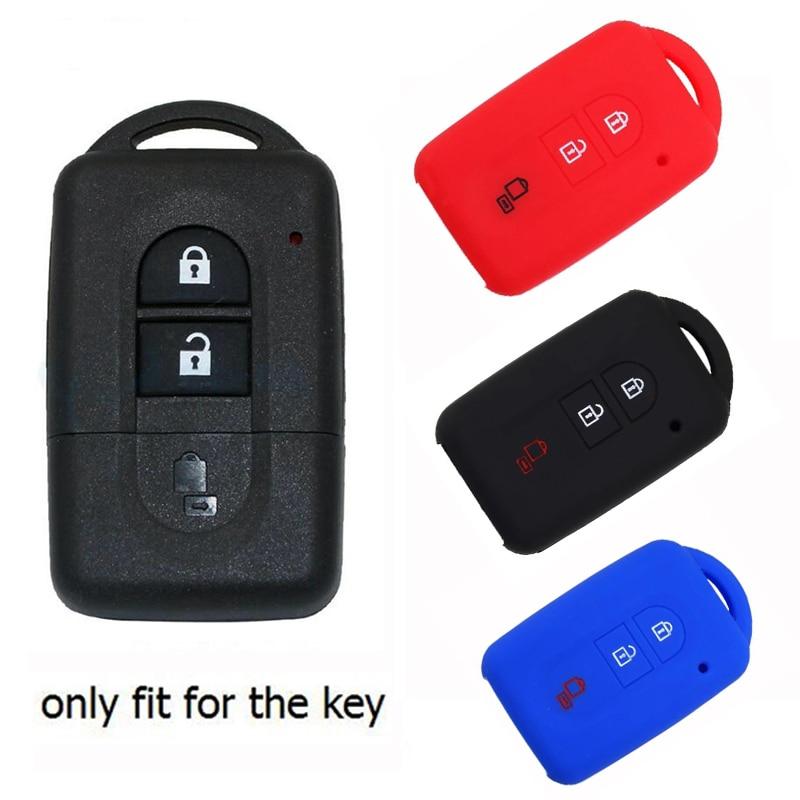 JEAZEA 3 bouton Silicone caoutchouc voiture télécommande porte-clés Shell housse de protection pour Nissan Qashqai x-trail T31 Micra K12 2007 2017