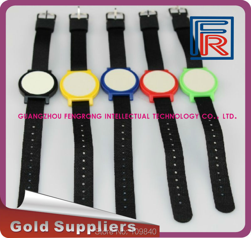 100pcs 13.56MHz RFID Nylon Wristband/Bracelet with 1K s50 chip for access control/NFC/Event/E-ticket survival nylon bracelet brown