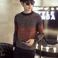 2016 New Winter Fashion Brand Casual Sweater O-Neck Striped Slim Fit Knitting Men's Sweaters And Pullovers Men Colored Wool