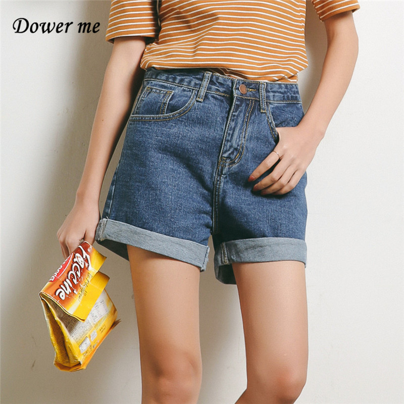 Women Solid Denim Shorts With Pockets New Harajuku Summer Ropa Mujer Slim Short Pants Feminino Casual Wide Leg Jeans YN1235 женские шорты short jeans 2015 feminino slim