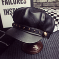 Fashion fashion rivet leather beret baseball cap octagonal cap autumn and winter