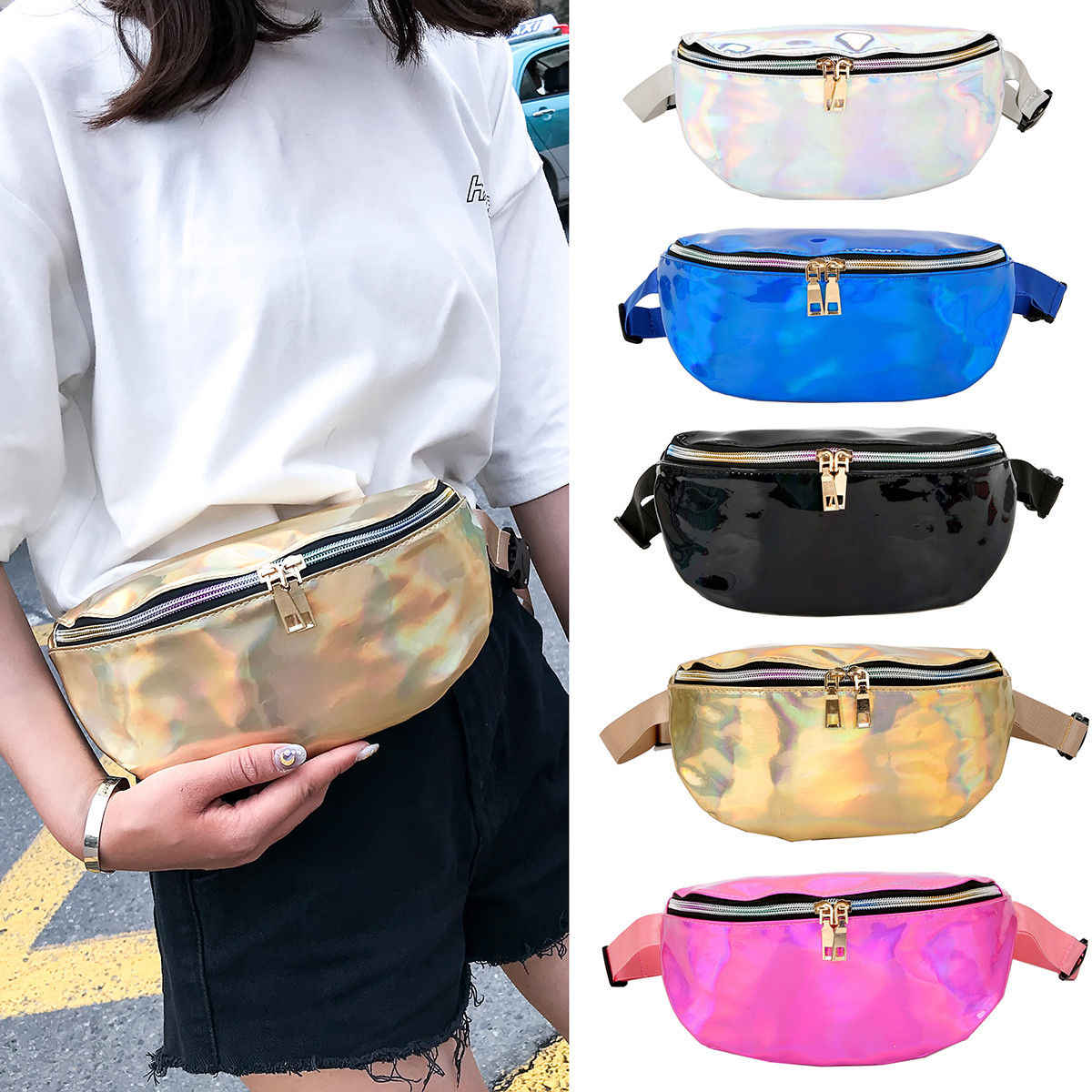 a7d46ad69776 Women Bum Bag Fanny Pack Pouch Travel Waist Festival Money Belt Leather  Holiday Wallet Pouch Hip Purse Travel Bag