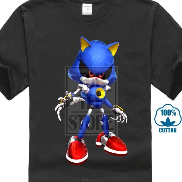5e3e805cc Punk Rock Sonic T Shirt For Men Funny Cartoon Comic Tee Shirts Not ...