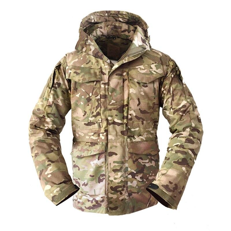 Wojskowy kamuflaż odzież męska Us Army Tactical wiatrówka męska bluza z kapturem dziedzinie kurtka znosić w Kurtki od Odzież męska na  Grupa 1