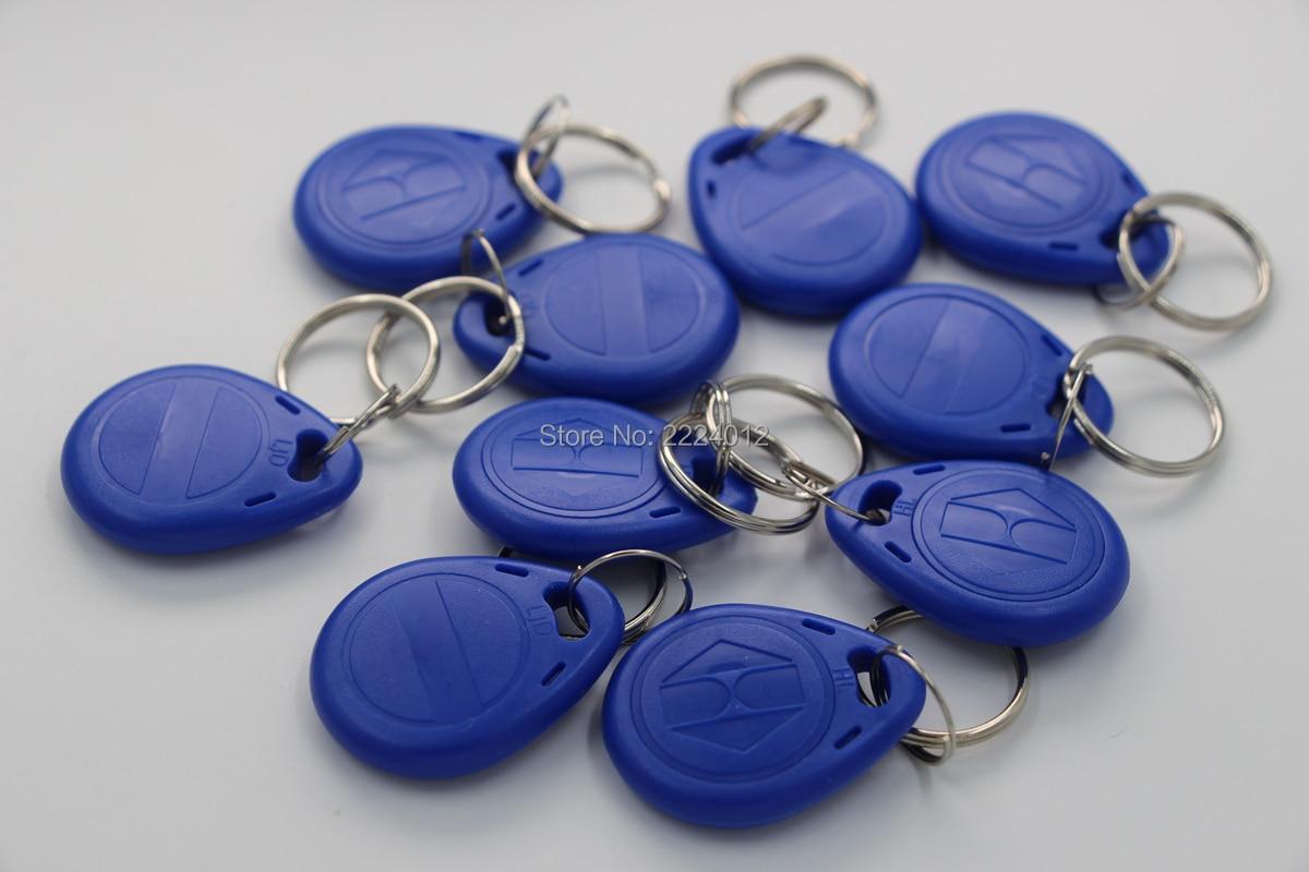 100pcs 125khz T5577 Copy Rewritable Writable Rewrite Keyfobs RFID Tag Key Ring Card Token Badge For Copier Duplicate Rfid Tag