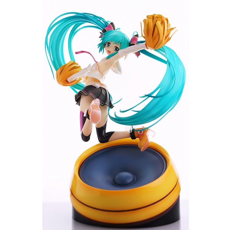 22CM Japanese anime figure MIKU cheerful ver action figure collection model kids toys for boys japanese anime figure kurosaki ichigo bleach action figure collectible model toys for boys
