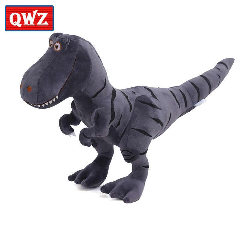 QWZ 100-45 см плюшевые игрушки, динозавр хобби мультфильм тираннозавр мягкие игрушки куклы для детей мальчиков детские подарки на день рождения Рождество