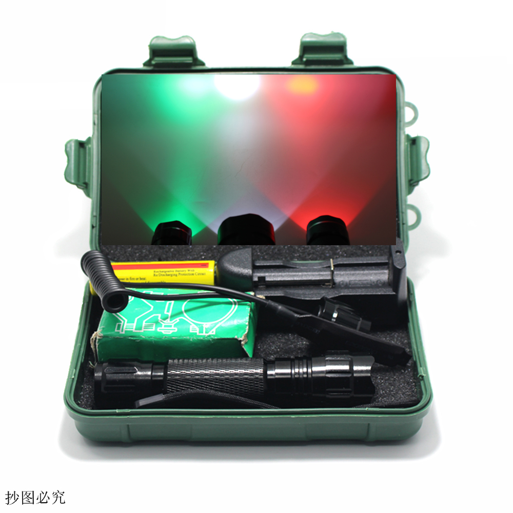 LED Flashlight White/Green/Red Q5 T6 Waterproof Outdoor Tactical Hunting Flash Light Light+ Pressure Switch Mount Rifle Light lx tda200 spa pump impeller and hot tub pump impeller for tda200 avaliable for 50hz an 60hz