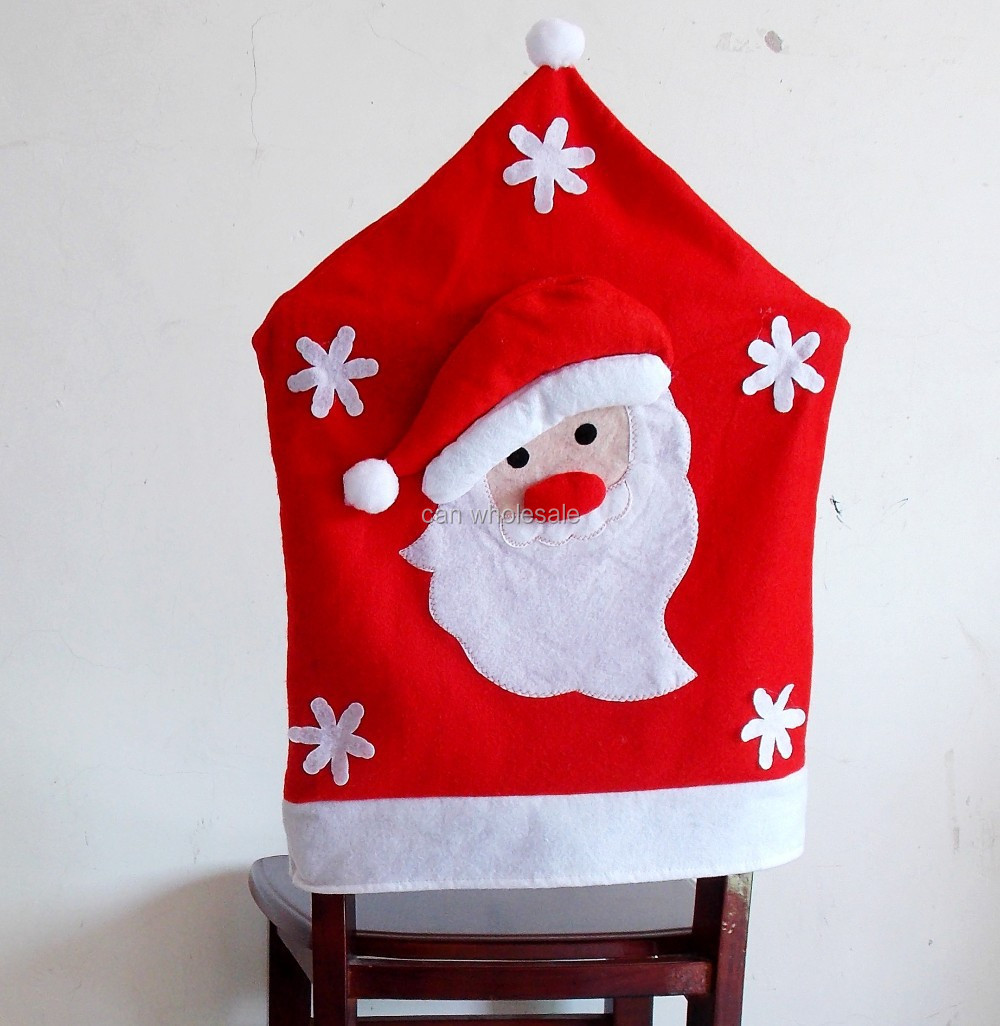Christmas chair back covers -  Chair Back Covers For Christmas Dinner New Decoration 2d4 2d5 2d7