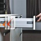 Cabinet damping riding pumping drawer slide drawer track stable and smooth damping drawer track