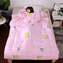 winter Comforters autumn Lazy Quilt with Sleeves family Blanket Cape Cloak Nap Blanket Dormitory Mantle Covered Blanket(China)