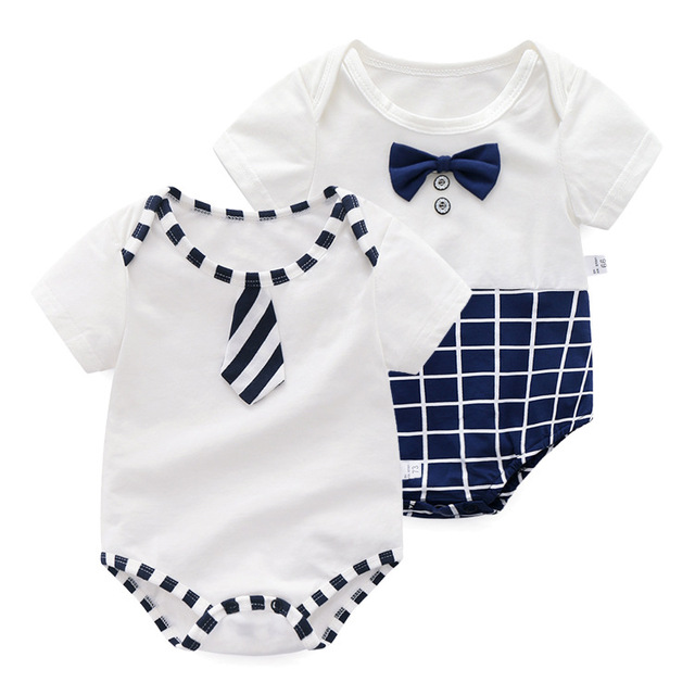 22382ad9070d Summer New Style Triangle Clothes Short Sleeved Baby Crawl Cotton ...