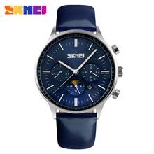 SKMEI Montre Hommes D'affaires Quartz Montres de Plongée 30 M En Cuir Casual Sport Hommes Horloge Top Marque De Luxe Rôle Hommes Montre 9117