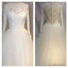 2017 элегантные настоящие свадебные платья белое/цвета слоновой