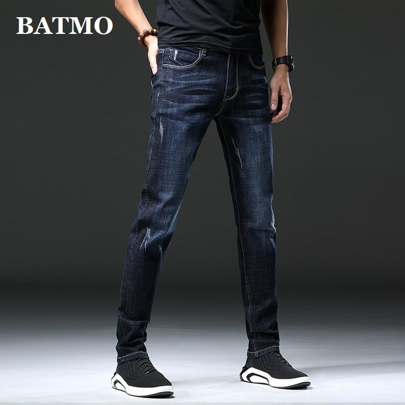 Batmo 2019 new arrival high quality casual slim elastic jeans men ,men's pencil pants,skinny jeans men 1826