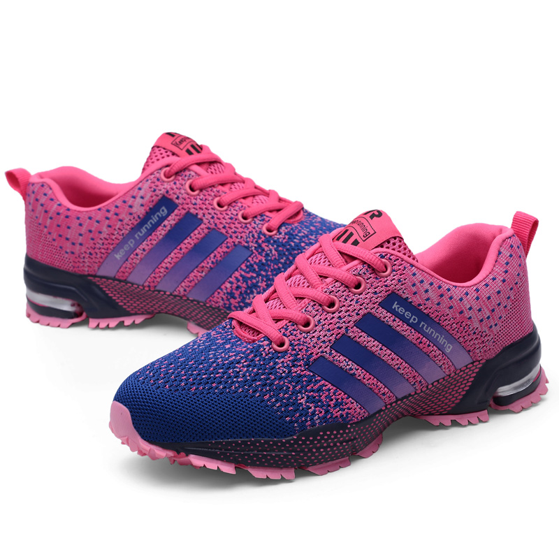 Women's Sneakers Breathable Sports Shoes Lightweight Running Shoes For Men Comfortable Athletic Training Footwear Shoes 47 in Running Shoes from Sports Entertainment