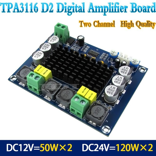 NEW TPA3116D2 Dual-channel Stereo High Power Digital Audio Power Amplifier Board 2*120W