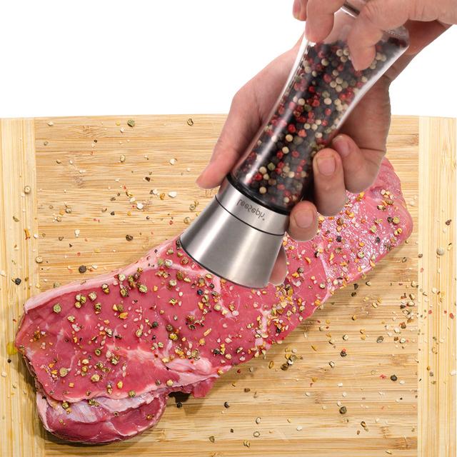 Premium salt and pepper grinder set of 2