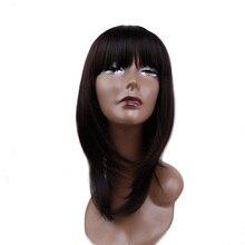 Amir 12 black black preto marrom bob peruca curta perucas sintéticas para mulheres preto resistente ao calor hairpieces