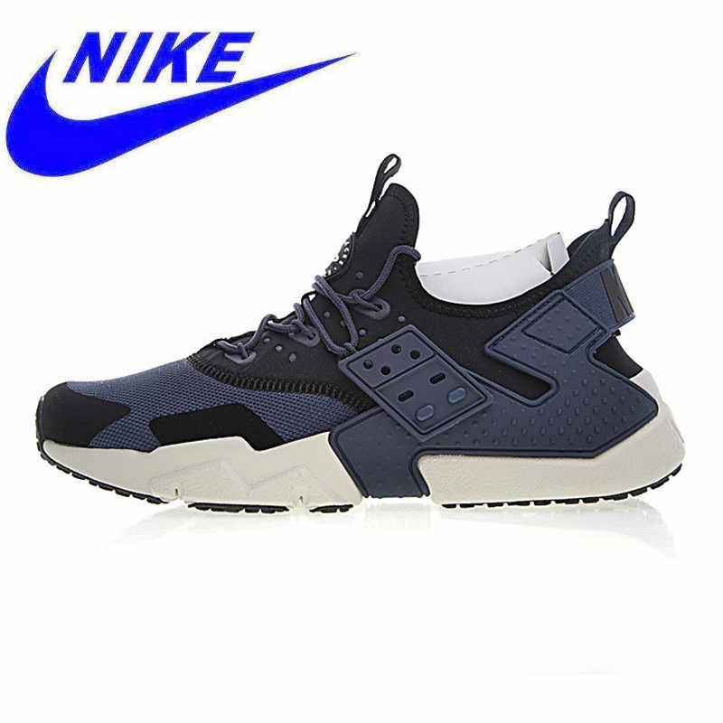 c18f873e7e Breathable Non-slip NIKE AIR HUARACHE DRIFT PRM Men's Running Shoes ,Blue &  White