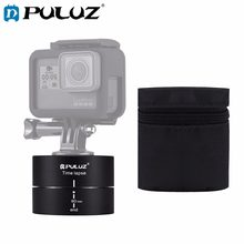 PULUZ Camra Time lapse 360 Panoramic Panning Rotation 60/120 Minutes Gopro Stabilizer Tripod Head Adapter Timelapse(China)