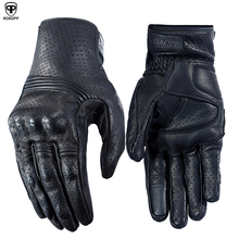 ROAOPP Breathable Motorcycle Gloves Leather Full Finger Motocross Protection Moto Downhill Cycling Riding Racing Glove