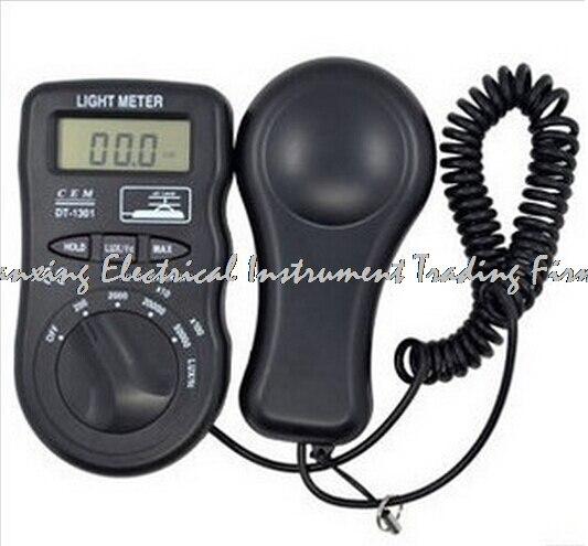 ФОТО CEM DT-1301 Digital Luxmeter Light Meter 50k lux 2000 counts Handheld Illuminance Tester Digital Light Meter