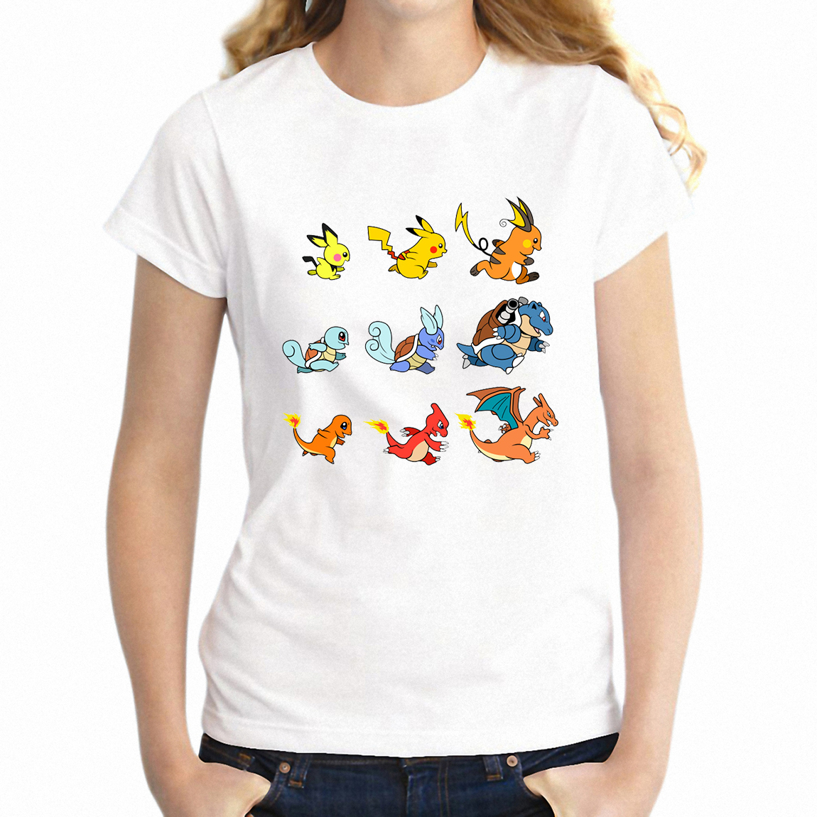 summer-women's-t-shirt-font-b-pokemon-b-font-evolution-pikachu-charizard-squirtle-artsy-girl's-short-sleeve-tshirt-tee-harajuku-streetwear