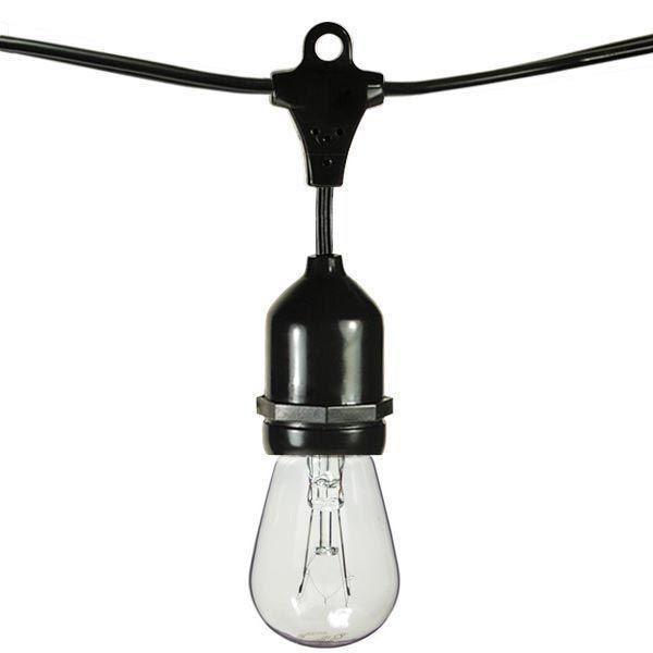 Vintage 11W Edison Bulbs 48 Ft Bistro Lights Waterproof Outdoor Incandescent String Lights