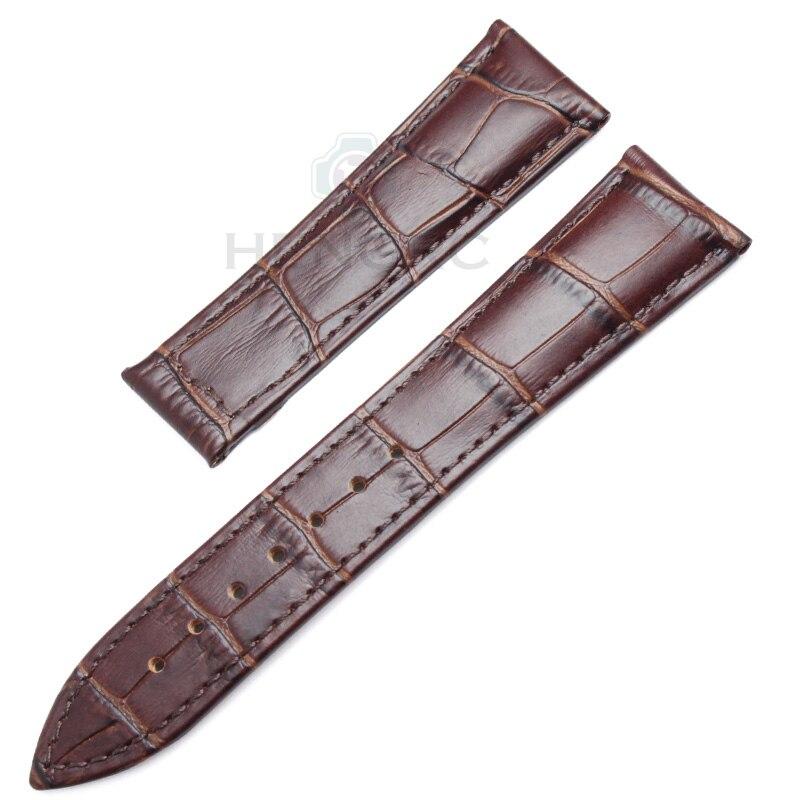 Bandas de reloj HENGRC 20 mm 22 mm Correa de reloj de cuero genuino - Accesorios para relojes - foto 2