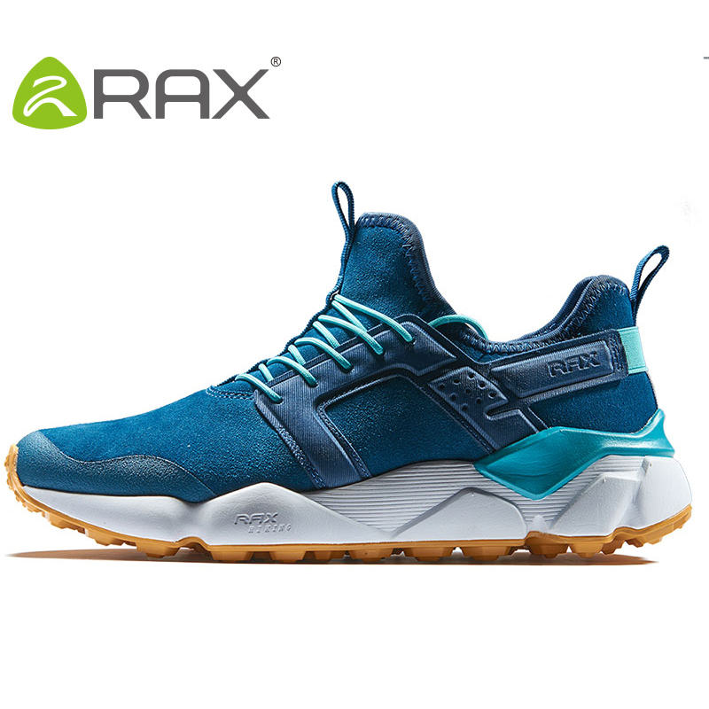 RAX Suede Leather Men Running Shoes Comfortable Athletic sport Shoes Outdoor Walking jogging shoes Women Sneakers zapatos hombre