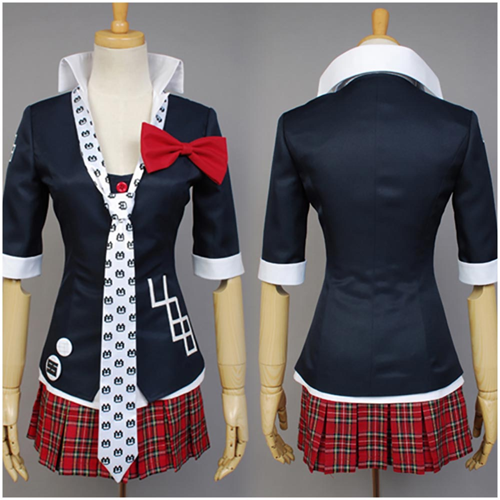 Hot Sale 2017 Danganronpa Junko Enoshima Sexy Costume Women Full Sets