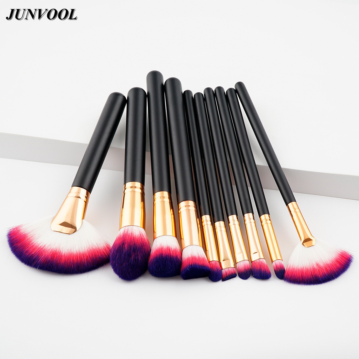 10pcs Full Professional Makeup Brushes Set High Quality Soft Synthetic Hair Cosmetic Beauty Tools Foundation Large Fan Brush Kit professional 10 pcs soft synthetic hair make up tools kit cosmetic beauty makeup foundation brush beige sets 30