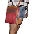 Classic head layer cowhide single shoulder bag Inclined bag, cell phone hanging bags Free shipping