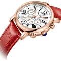 Модные Лидирующий бренд MEGIR  Женские Подарочные часы  роскошные Дамские Кварцевые часы для влюбленных  спортивные наручные часы Relogio Feminino