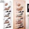 Homdox 12 Capas Fit 36 Pares Zapatero Multifuncional Portátil Organizador De Zapatos Colgando Sobre la Puerta