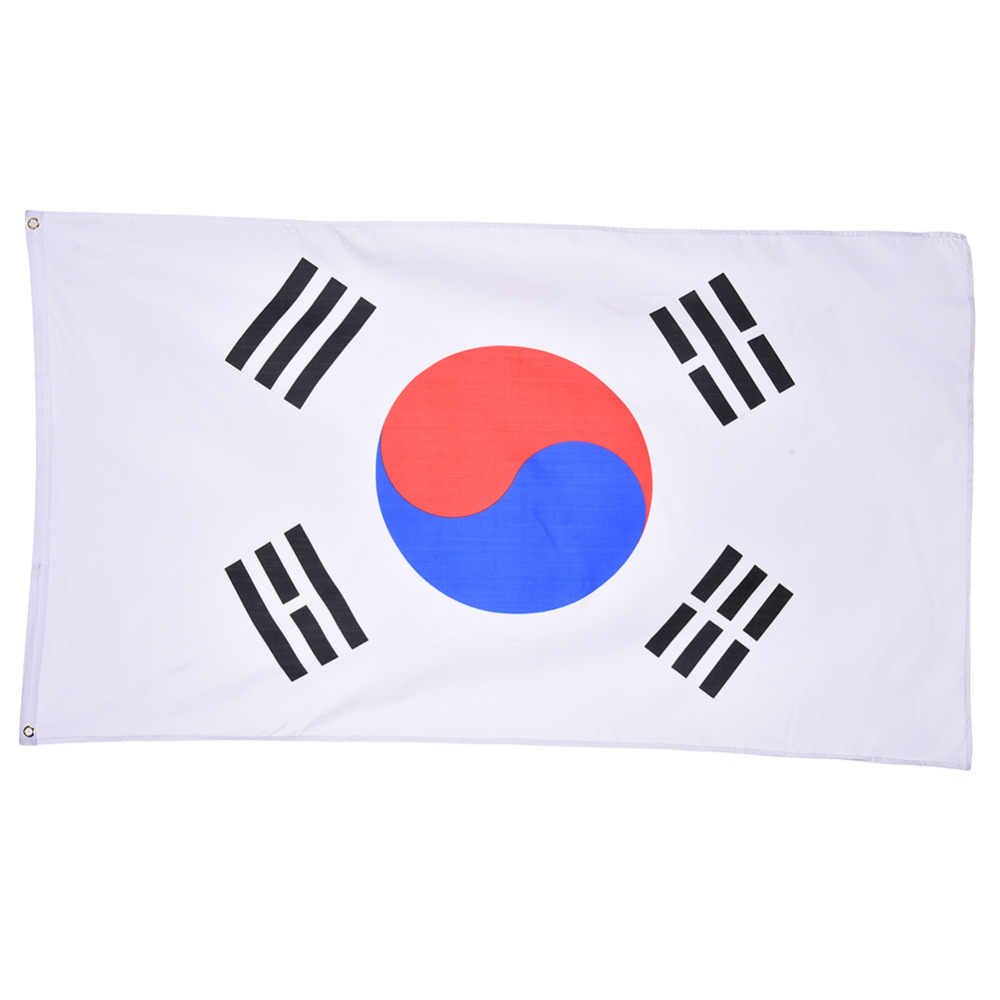 90*150cm South Korea Flag  Polyester Flag Banner  for Festival  Home Decoration