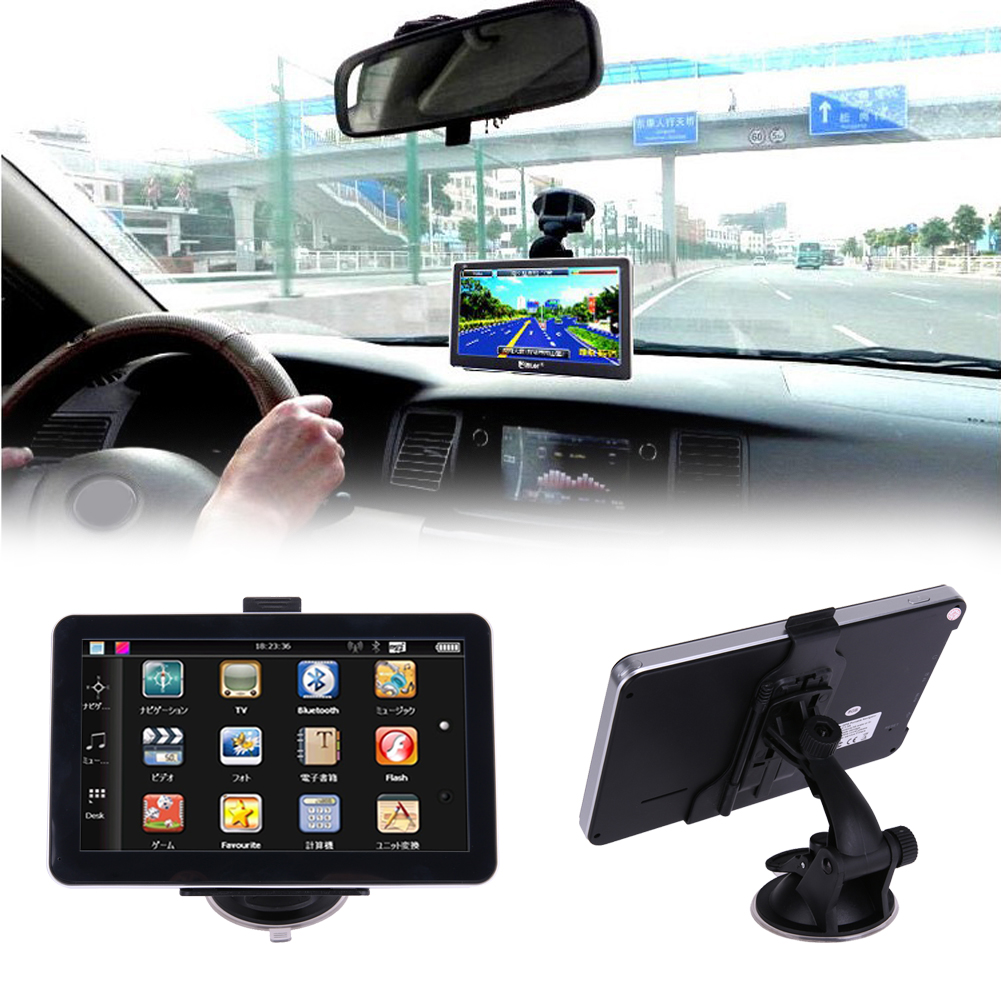 7 Touch Screen Vehicle Car GPS Navigator With Bracket Support Free Maps Car Charger Music Player Built-in games Car Electronics automotive supplies bluetooth hands free system music player car charger f launch vehicle p3