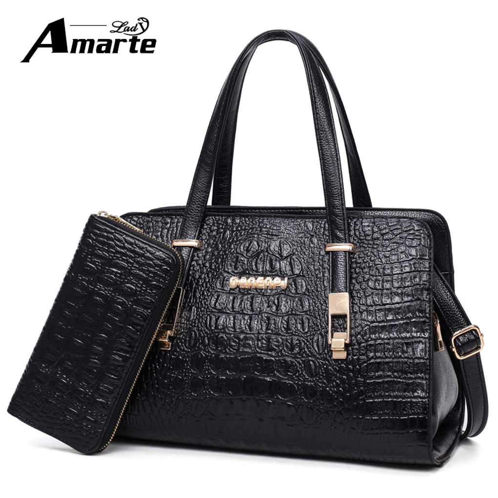 Fashion PU Leather Big Shoulder Bags 2018 Crocodile Women Chains Bag High Quality Ladies Tote Bag Female Coin Purses and Handbag