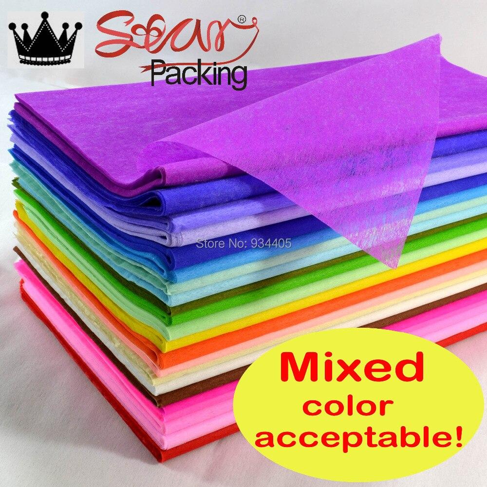 Wholesales Tissue Paper Wrapping Fiber Texture Floral Wraps 4848cm