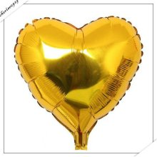 Free Shipping 18inch 10pcs Gold Heart Promotion Toy For Wedding Birthday Party Inflatable Ballons Aluminum Foil Balloon цена 2017