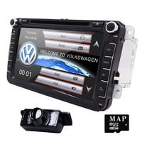 Free Rearcamera 2Din wince Car DVD Player Stereo Navigation Bluetooth SWC For VW Skoda POLO GOLF PASSAT CC JETTA TIGUAN HD DVB T