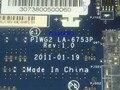 Caliente en rusia nueva + envío libre piwg2 la-6753p rev: 1.0 madre del ordenador portátil para lenovo g570 notebook pc