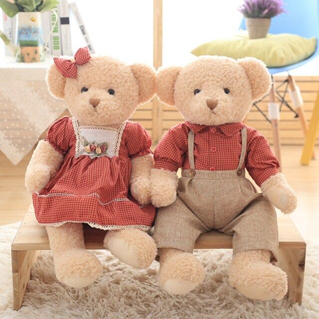 Nooer 45cm 1 pair lover teddy bear plush toy stuffed couple bears nooer 45cm 1 pair lover teddy bear plush toy stuffed couple bears doll soft kids baby voltagebd Gallery